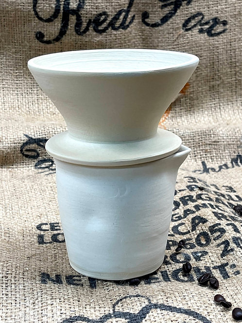 Alabaster pour-over set | funnel and pitcher set