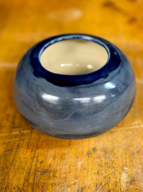 Sapphire and icy blue   short vase