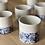Thumbnail: Winter flower series in blue | tea tumbler