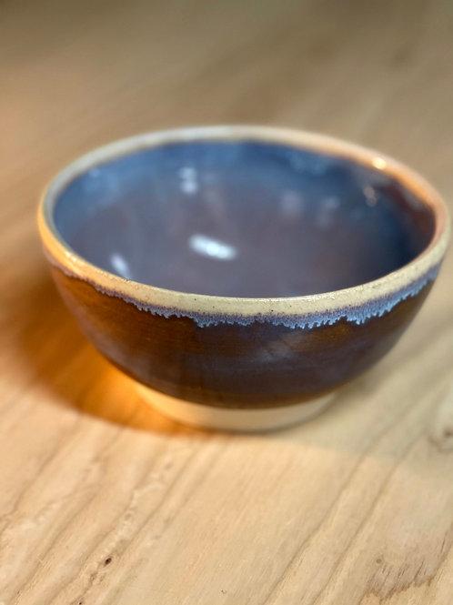 Warm gray   serve bowl