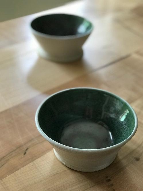 Gunmetal green bowl | set of 2
