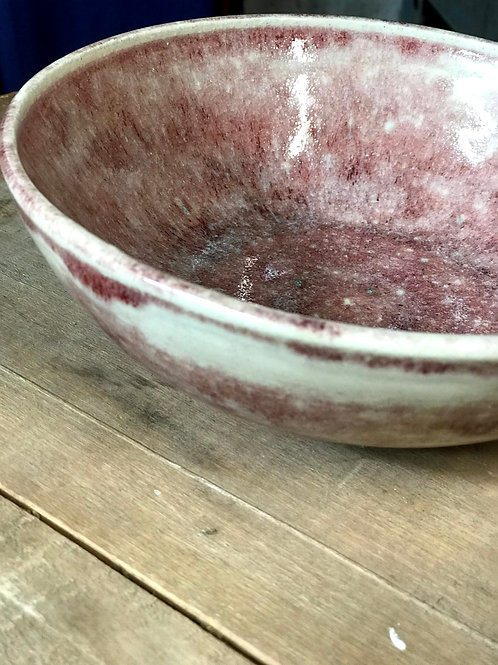 Oxblood red wide bowl | soup | salad