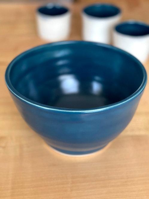 Verdigris   serve bowl
