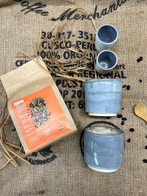 Warm gray tumbler set | cups and creamer set