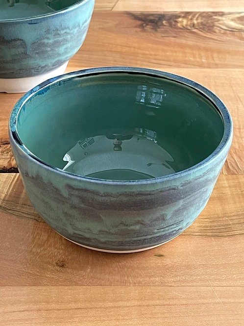 Sage green and oxidized copper green | bowl