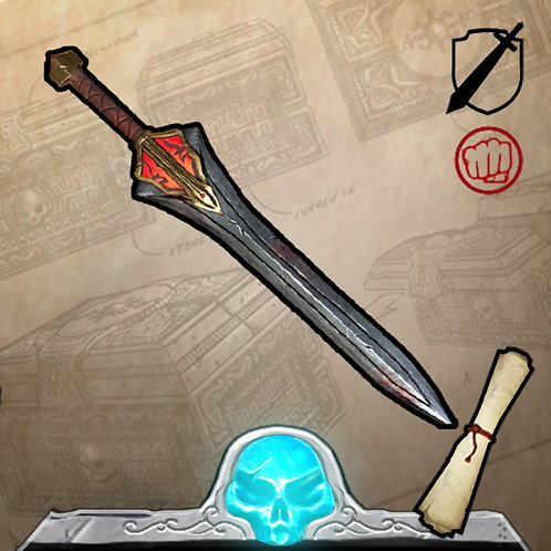 Red Atlantean War Sword Limited Edition 199