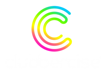 Clubberciselogo-rainbow-whitetext-centre