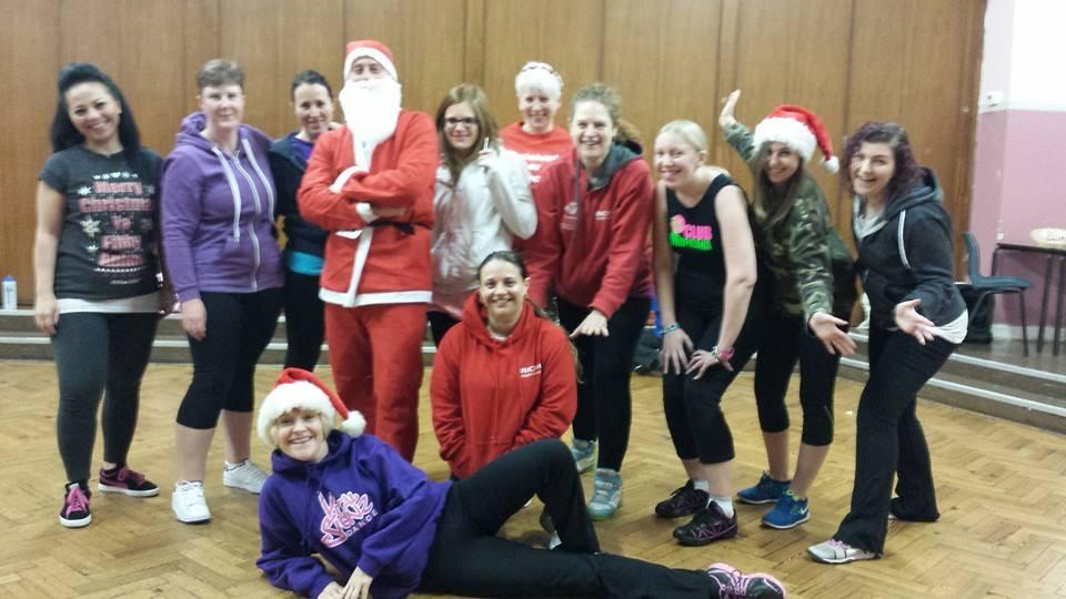Christmas, exercise, fitness class, Zumba