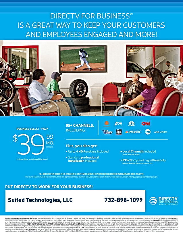 DIRECTV Business viewing tire center fly