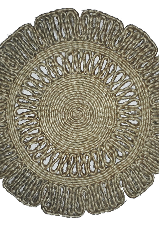 Promise Natural Jute PlaceMat Round Wave