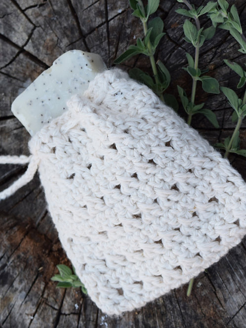 Organic Cotton Soap Bag