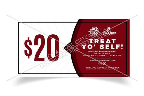 $20 Virtual Gift Certificate