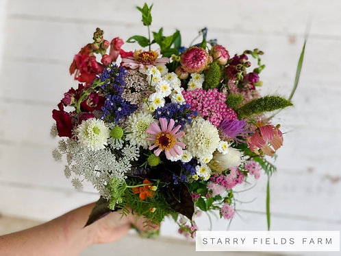 Bouquet from Starry Fields Farm