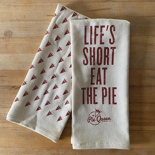 Life's Short, Eat the Pie Tea Towel