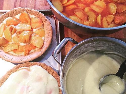 Whole Peaches and Cream Pie