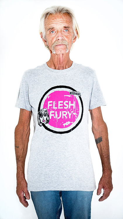 Flesh Fury (Pink on Grey) T-Shirt