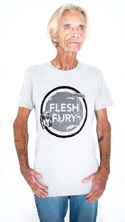 Flesh Fury (Black on Grey) T-Shirt