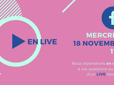 Live facebook à 17h