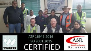 Quality Certifications Renewed
