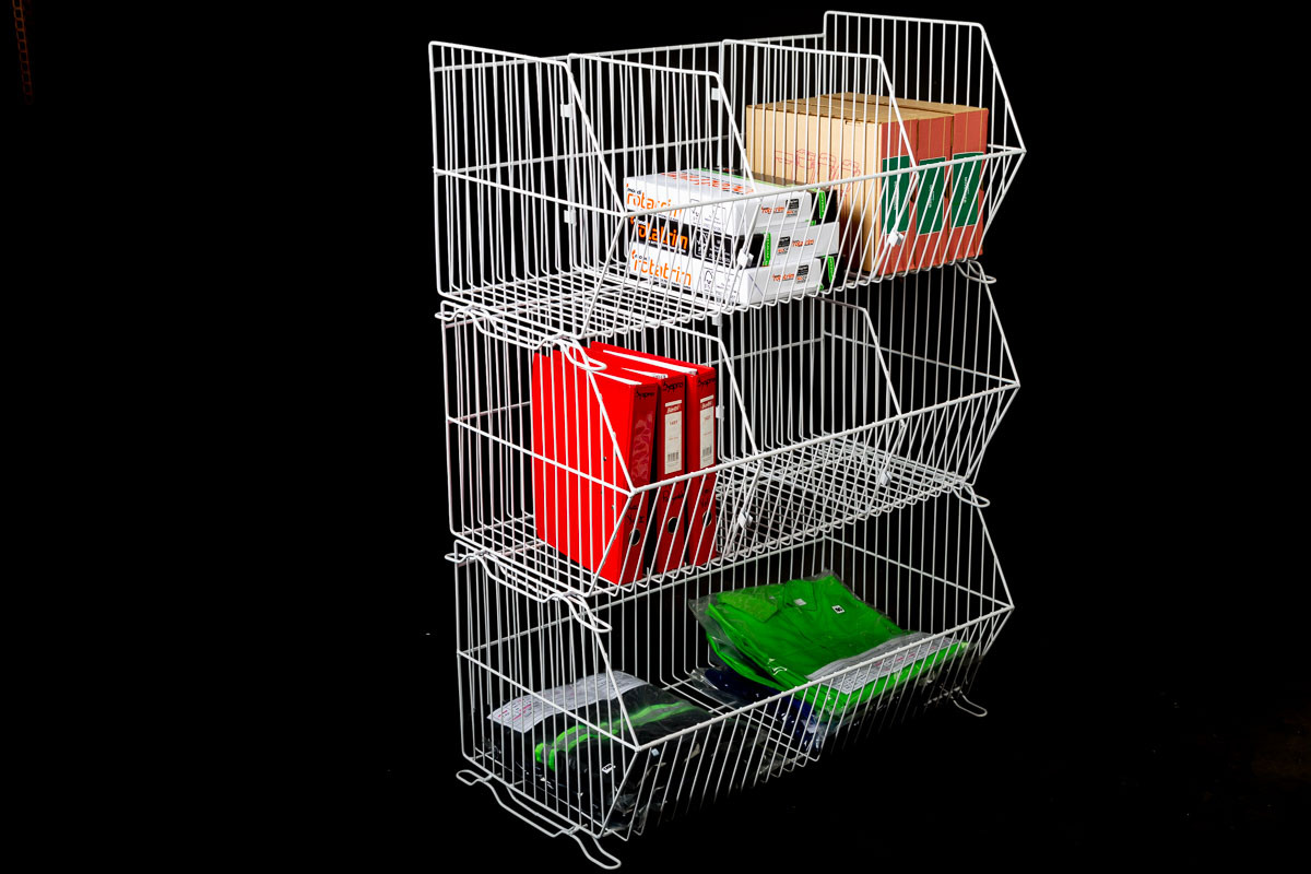 900 Stacking Baskets with Product