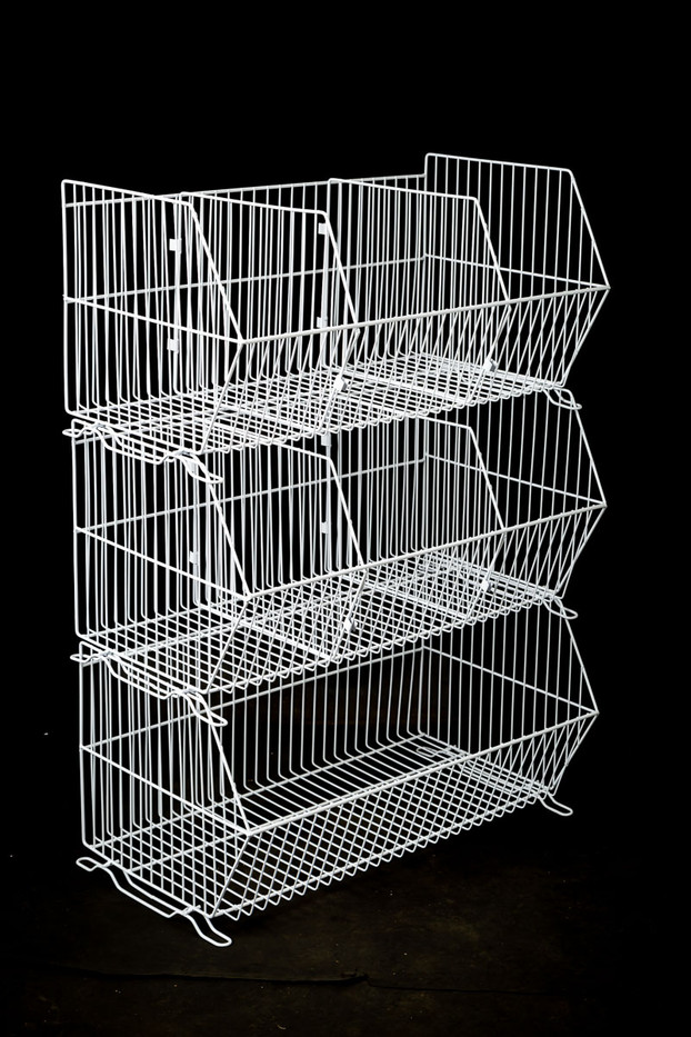 900 Wide Stacking Baskets with Dividers
