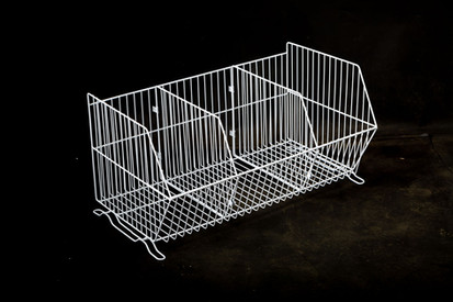 900mm Stacking Basket with Dividers