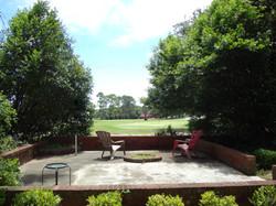 Backyard overlooking golf course