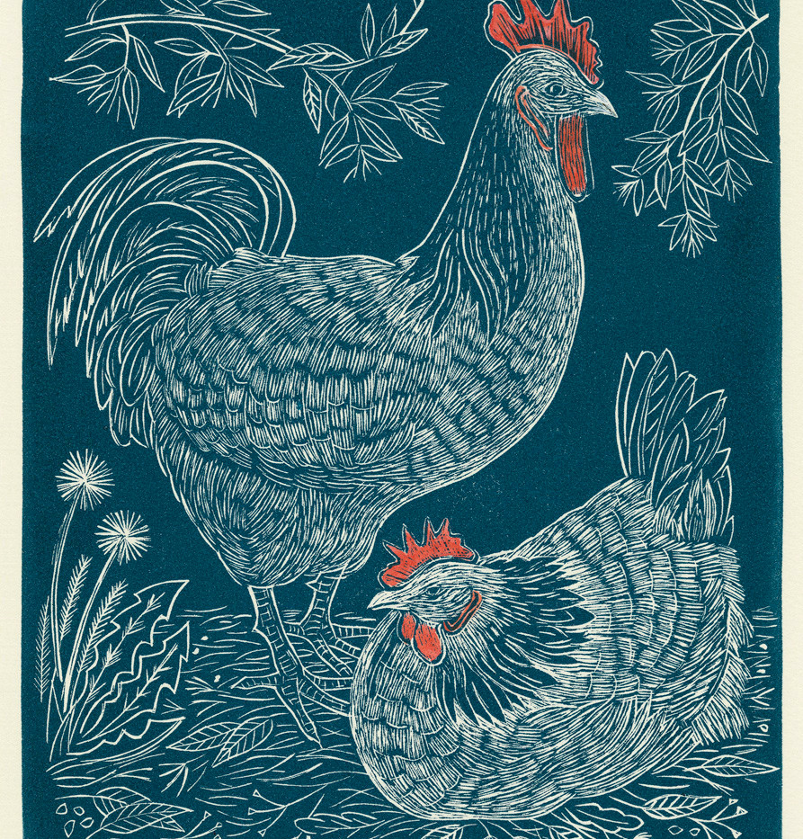 Mr Rooster and Mrs Hen