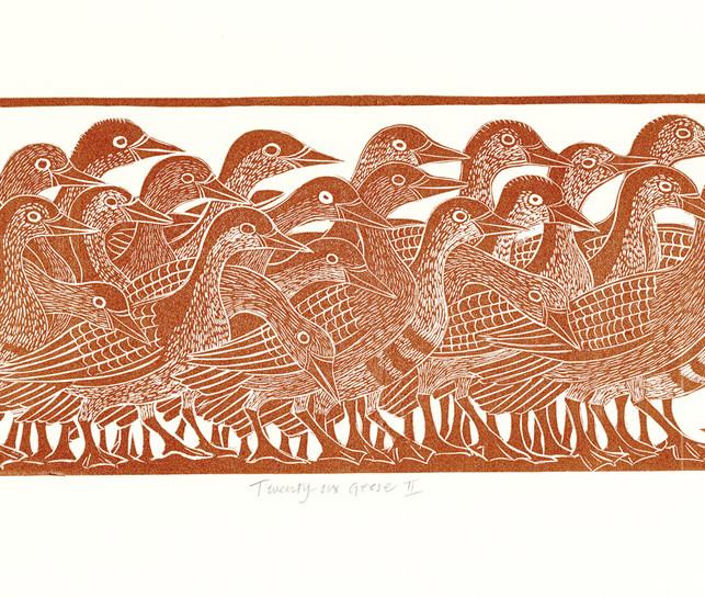 Elaine Marshall:-Twenty six geese 2