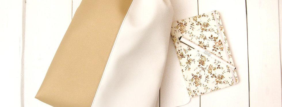 Zlato-bel  ženski nahrbtnik