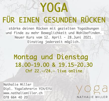 Yoga für deinen gesunden Rücken