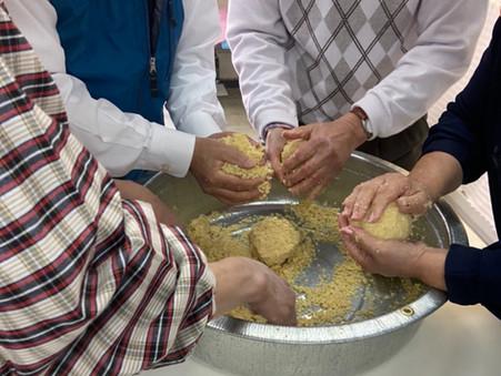 新☆生涯学習講座「大高酵素で酵素味噌作り」のリハを行いました。