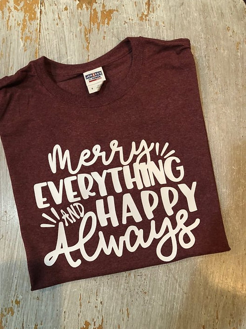 Merry Everything Happy Always Long Sleeve