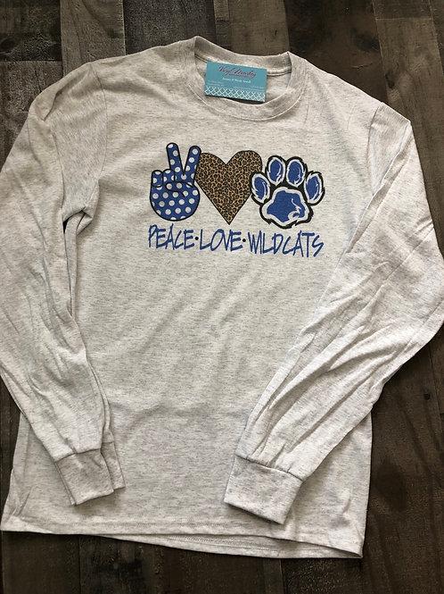 Peace Love Wildcats Short Sleeve