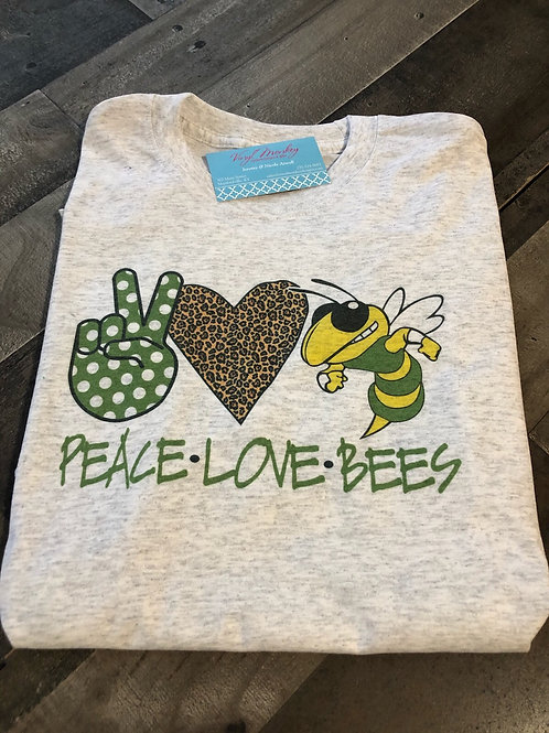 Peace Love Bees Short Sleeve
