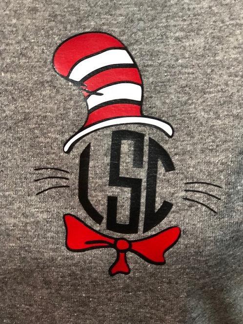 Cat in the Hat Monogram