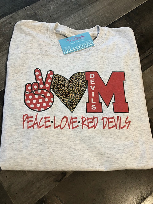 Peace Love Red Devils Long Sleeve