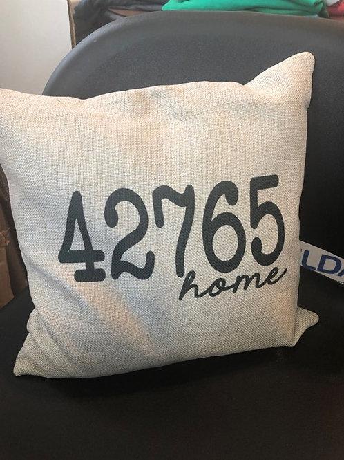 Zip Code Pillow Case