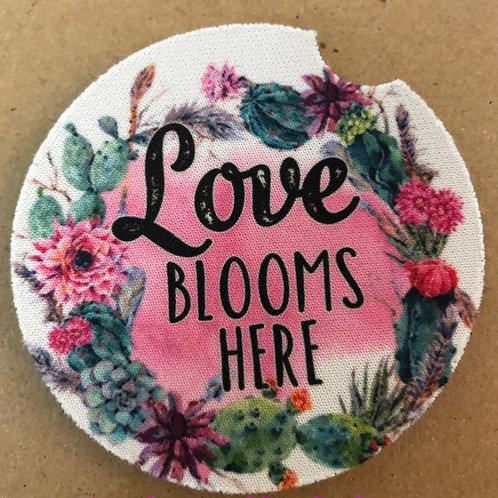 Love Blooms Here Car Coasters /2