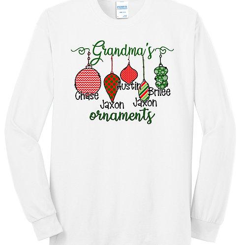 Grandma's Ornaments Long Sleeve