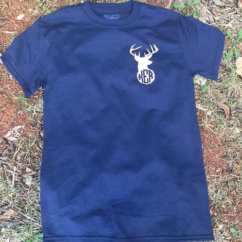 Deer Monogram Short Sleeve