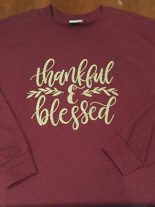 Thankful and Blessed Short Sleeve