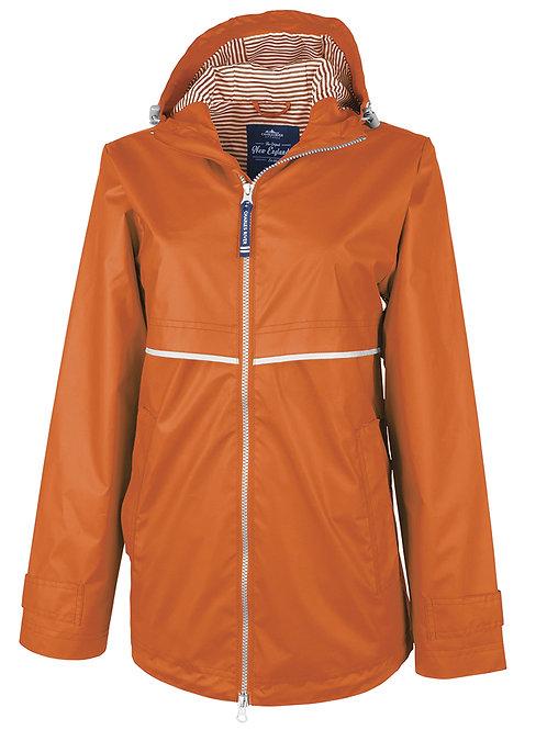 Orange Charles River Rain Jacket