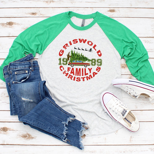 Griswald Christmas Raglan (Sublimated)