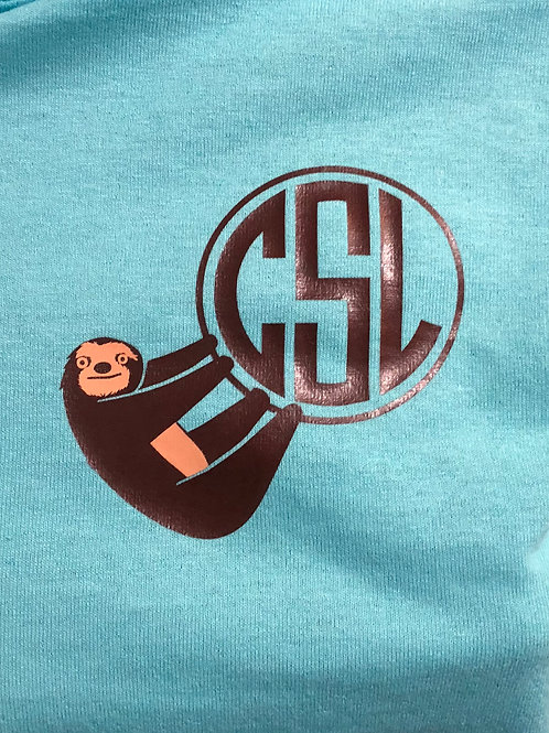 Sloth Monogram Short Sleeve
