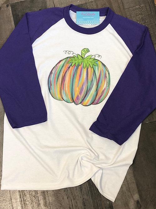 Multicolor Pumpkin Raglan