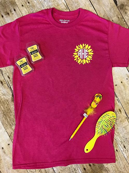 Sunflower Monogram