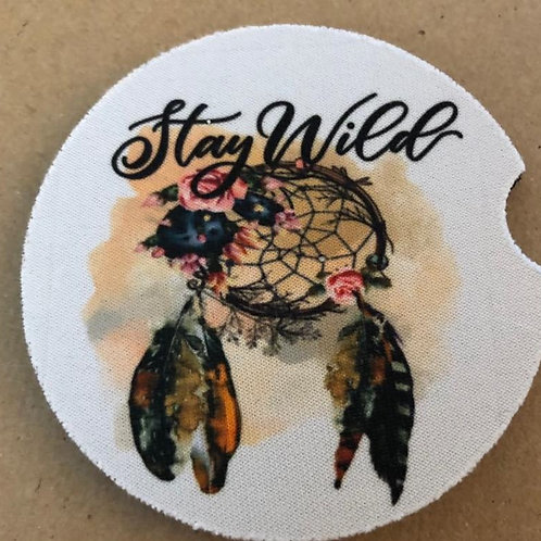 Stay Wild Car Coasters /2