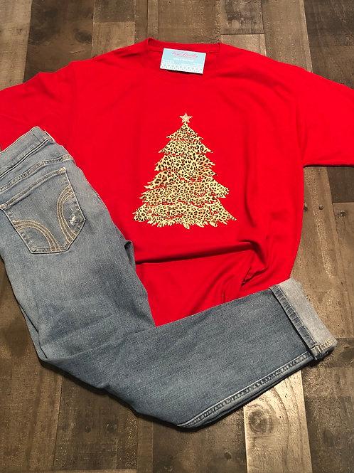 Leopard Christmas Tree Sweatshirt