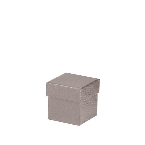 Rössler S.O.H.O. Boxline Kartonage quadratisch 65x65x65mm Taupe 4er Satz